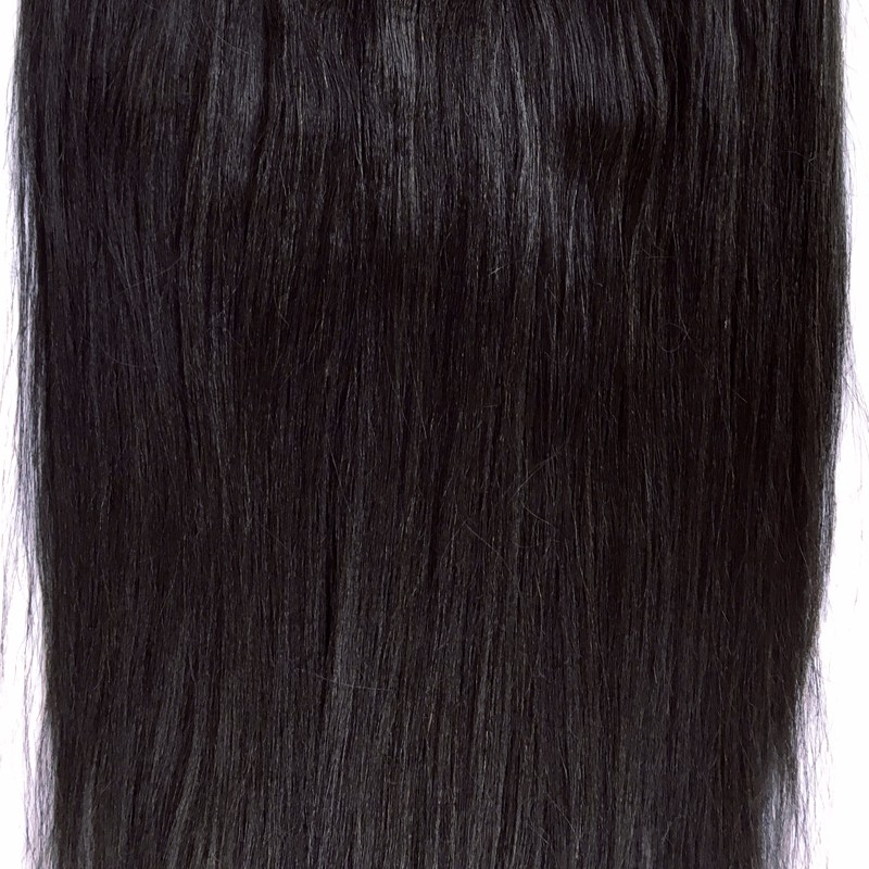 8A Top Clip in Human Hair Extensions Brazilian Virgin Hair Light Yaki Straight Virgin Hair Clip In Hair Extensions Sunny Queen