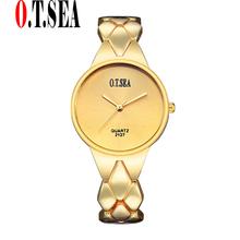 Buy Luxury Gold Plated Bracelet Watches Women Ladies Dress Quartz Wristwatches Relogios Feminino O.T.SEA Brand 2127 for $3.79 in AliExpress store