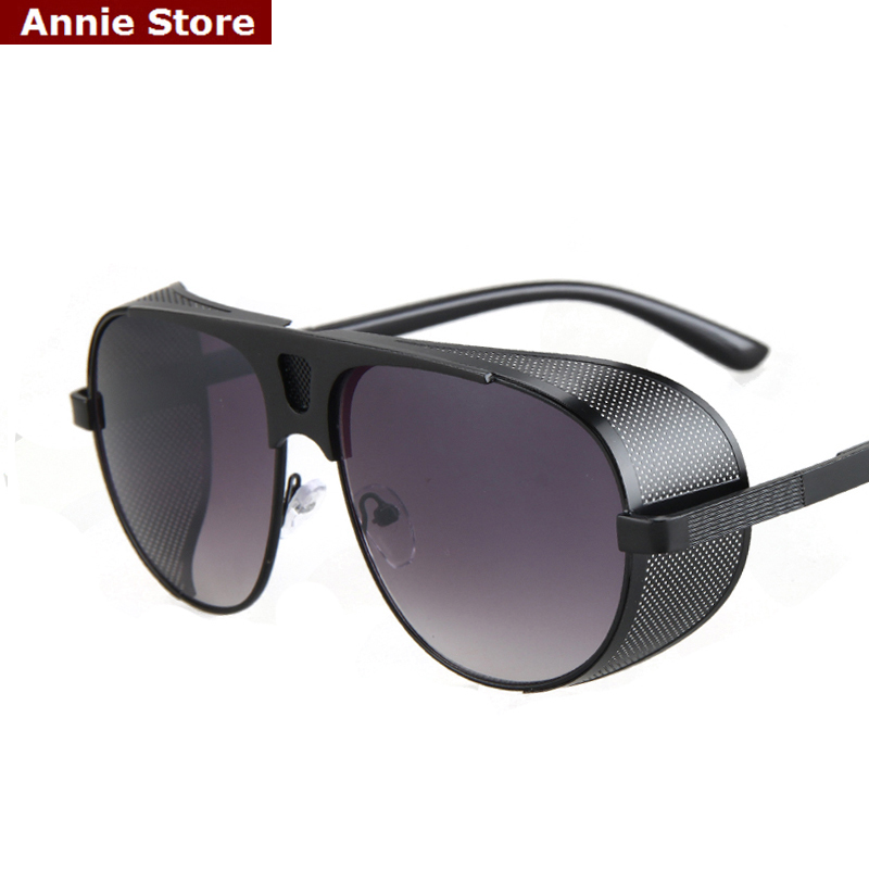 wholesale Vintage man sunglasses brand 2016 mirror oversized gold metal shield sunglasses steampunk women unisex  lentes de solОдежда и ак�е��уары<br><br><br>Aliexpress