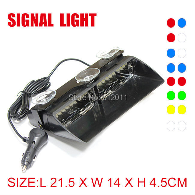 FED Signal S2 16W 16LEDS Car Truck Warning Emergency Strobe Flash Light Super Bright AMBER GREEN WHITE BLUE RED Colour - SSSupper Auto Accessories store