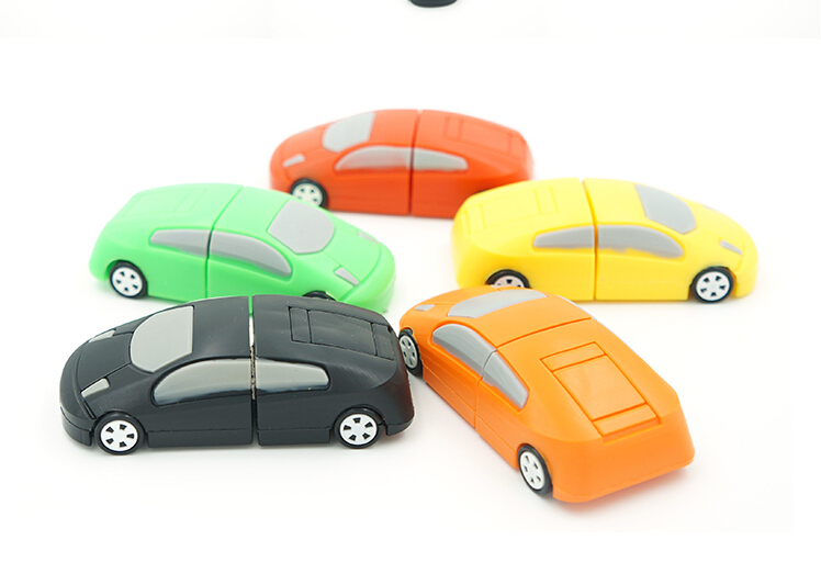 10pcs/lot Free shipping 2015 hot sale funny cartoon car shape usb memory stick 4gb 8gb 16gb 32gb flash card(China (Mainland))
