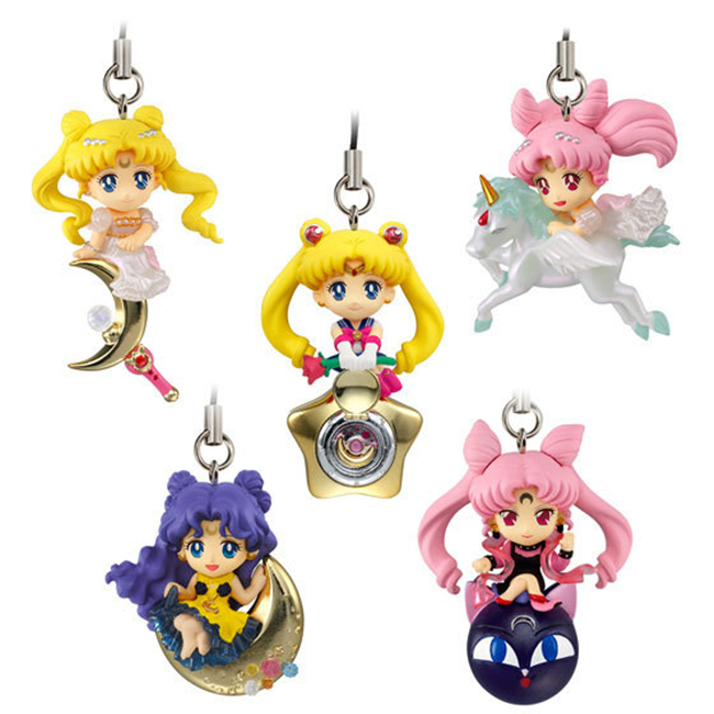 5pcs/set Twinkle Dolly Sailor Moon Keychain Cute Version Action Figure Pendant Japanese Anime Keychain Toys Gifts #F(China (Mainland))
