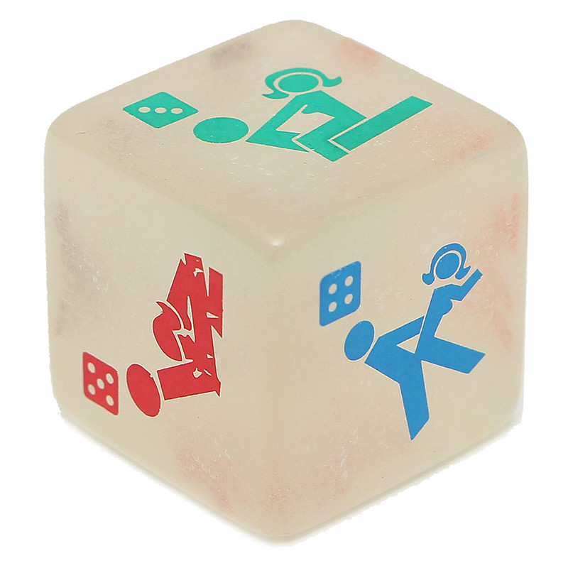 Lowest Price 1PC Sex Funny Noctilucent Adult Glow Dice Game Love Humour  Gambling Romance Erotic Crap Toy<br><br>Aliexpress