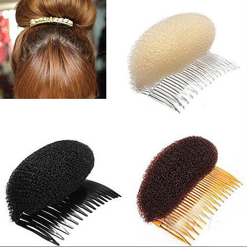 2015 New 3pcs lot Hair Styler Volume Bouffant Beehive Shaper Roller Bumpits Bump Foam On Clear