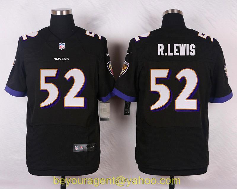 Men's free shiping A+++ quality Baltimore Ravens #52 Ray Lewis Elite(China (Mainland))