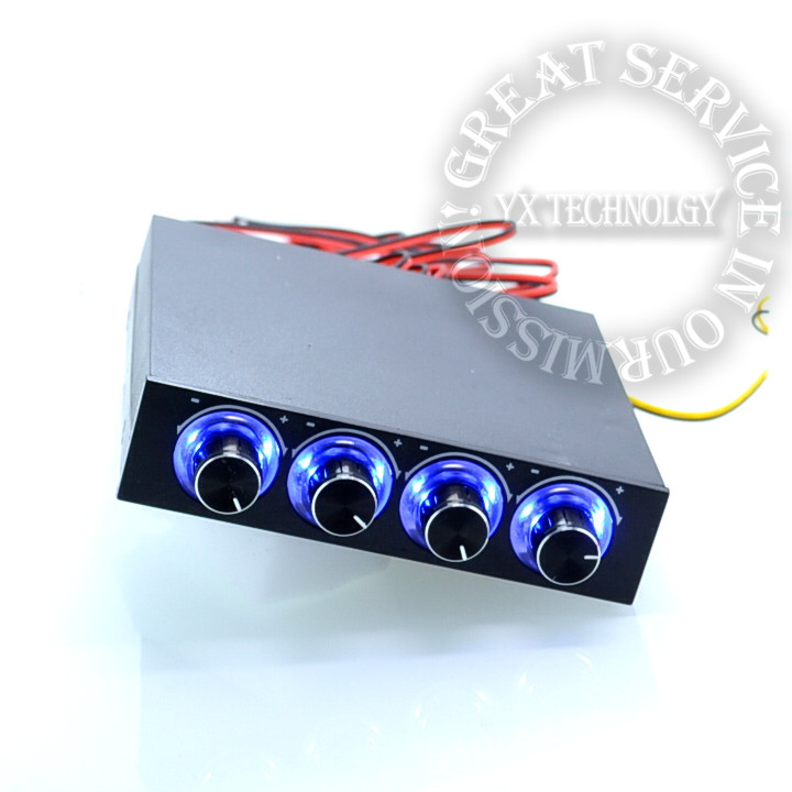 4 Channel Speed Fan Controller with Blue LED GDT Controller and CPU HDD VGA(China (Mainland))