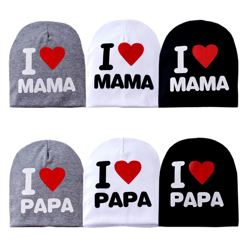 I Love Mama Papa Baby Beanie Handmade Crochet Newborn Summer Hat Baby Cotton Caps Hats For Girls Boys Child Kids Gorro Infantil<br><br>Aliexpress