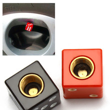 2Pcs/Pack Universal Dice Auto Bicycle Car Tire Valve Caps Tyre Wheel Air Stems Cover Airtight Rims Accessories Red Black(China (Mainland))