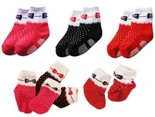 Wholesale - baby socks anti-skip socks spot design girls socks stockings hose ankle sock --YFF417A(China (Mainland))