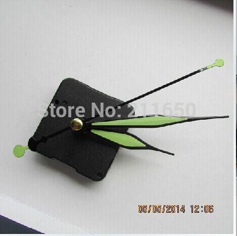 Quartz Clock Movement Kit Spindle Mechanism Tool shaft 20mm with luminous clock hands(China (Mainland))