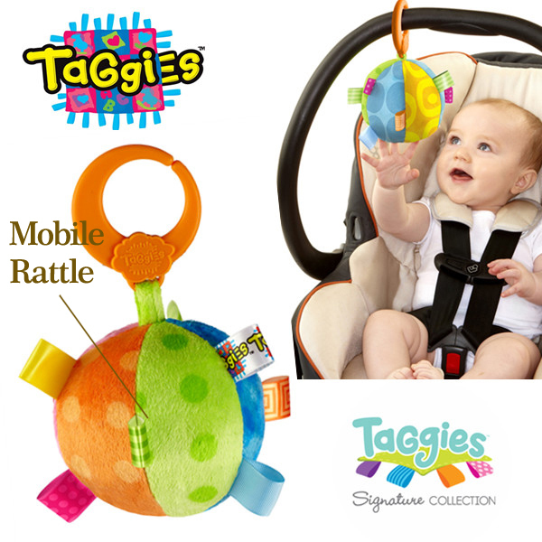 Mobile Baby Toy Baby Rattle Taggies Plush Ball Size 4.8''*4.8''*6.8'' Baby Crib Mobile Stroller Toy Newborn Baby Toys Bed Bells(China (Mainland))