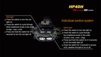 Налобный фонарь Fenix HP40H 1 * Cree xp/e2 1 * Cree xp/g2 R5 450 ,