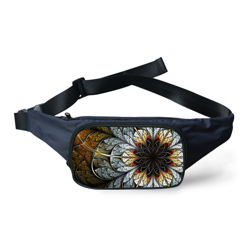 Vintage Women Waist Bag for Phone Mobile Casual Flower Print Canvas Bag Waist Pack Girls Women Floral Fanny Pack Bolsa Masculina