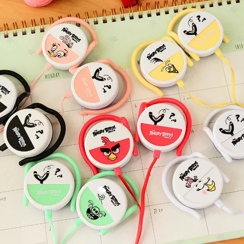 Ear-Hook cartoon bird earphone for Iphone samsung MI LG Huawei cute earbuds mobile phone headphone best kids gift(China (Mainland))