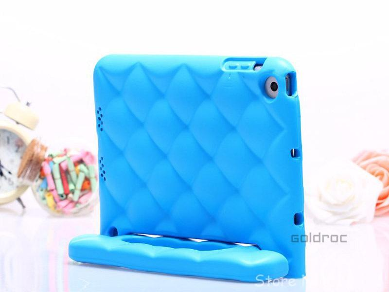 Free Shipping Child Kids Shock Proof Drop Resistance Thick Foam EVA TPU Cover Case Handle Stand For Apple iPad Mini 2015 New(China (Mainland))