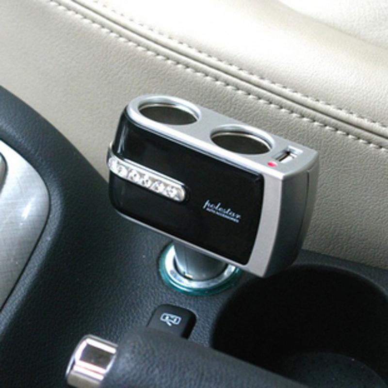 Новое 1 USB порт зарядное устройство и 2 разъём(ов) автомобильное зарядное устройство адаптер разветвитель # LY428