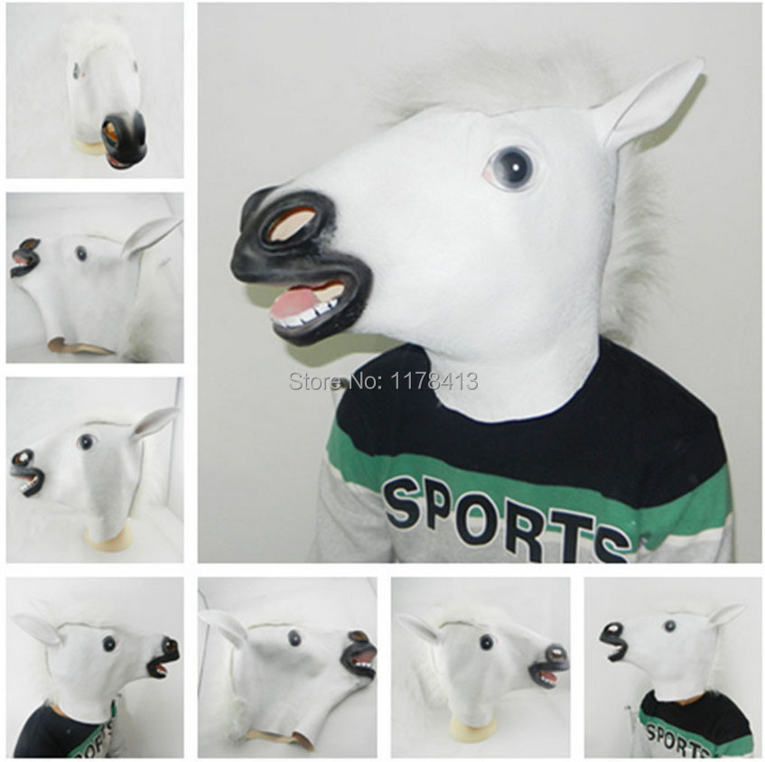 2015 horse mask Halloween costume party mask/latex half Christmas horror halloween mask party halloween 3D latex mask horse face(China (Mainland))