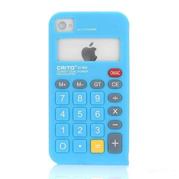 Byrdee Calculator Silicone Soft Skin Case Cover For iPhone 4 4S 4G(China (Mainland))