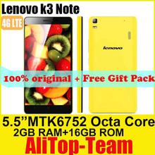 "Original Lenovo K3 Note K50 4G FDD LTE Mobile Phones 5.5"" FHD 1080P MTK6752 Octa Core 1.7GHz 2GB RAM 16GB ROM GPS 13MP Russian(China (Mainland))"
