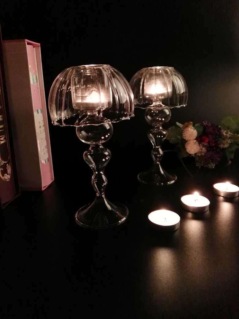 New France Decorative Crystal Glass Cylinder Vases Candlesticks Nice (only glass) Christmas(China (Mainland))