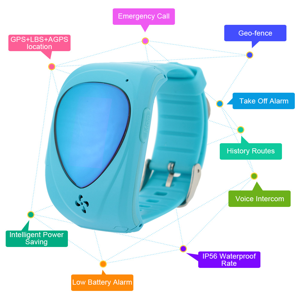 mini Smart Phone Watch Children gps tracker kids Wristwatch LBS GPRS Locator Anti Lost Smartwatch Child Guard for iOS Android(China (Mainland))