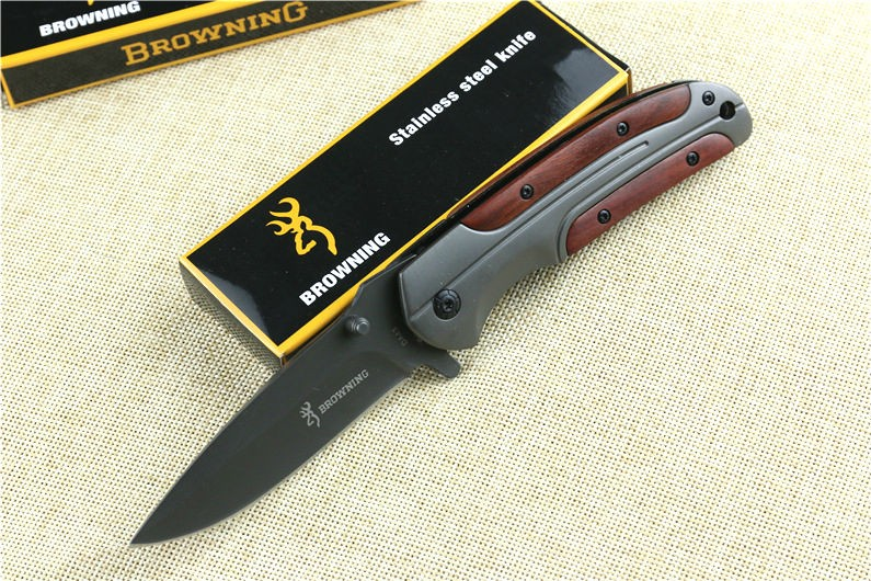 Buy New Folding Knife Browning Pocket Knife 3CR13MOV Blade Survival Hunting Knifes Tactical Camping Knives Outdoor Tools DA43 cheap
