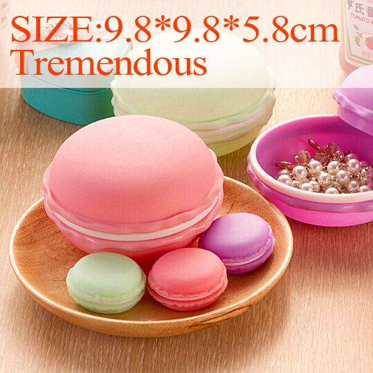 Cute Candy Color Macaron Mini Storage Box Jewelry Box Pill Birthday Gift delicate box wholesale(China (Mainland))