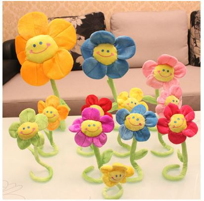 Plush Toys Wholesale,Korean Version,Lovely Flowers,Sunflowers,Roses,Gift Ideas,Gift Dolls,Interior Decorations,Festive Dress(China (Mainland))