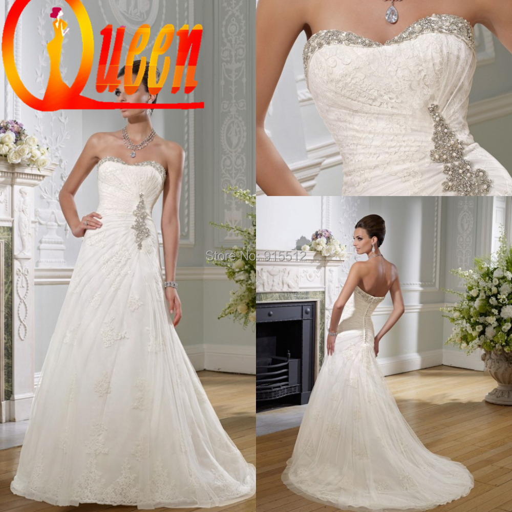 Retro sweetheart neckline high quality imported lace for Wedding dresses in europe