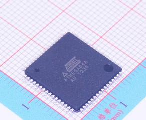 2PCS ATMEGA64A-AU QFP ATMEL ATMEGA64A TQFP64 8-bit Microcontroller with 64K Bytes In-System Programmable Flash(China (Mainland))