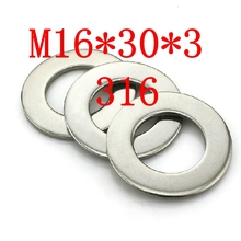 M16*30*3 316 20pcs Stainless steel plain washer din125(China (Mainland))