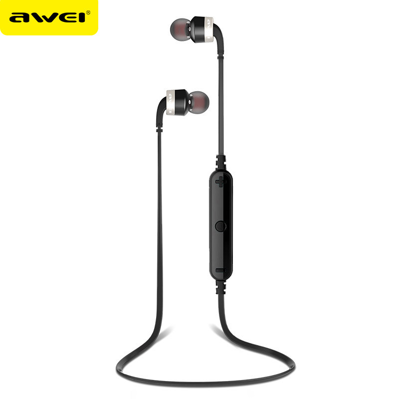 original awei a960bl wireless sports bluetooth headphones bluetooth 4 0 noise. Black Bedroom Furniture Sets. Home Design Ideas
