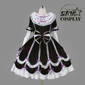 Plus Size Cotton Children Halloween Victorian Gothic Lolita Dress Girls Cosplay Princess Lolita Costume Layered Kids