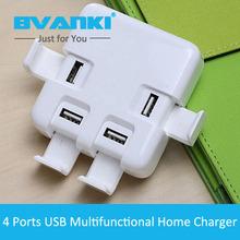 Buy Bvanki 50Pcs/Lot Hot sale Multiple USB 4 Ports Desktop Charger 1.5m cable EU,US,UK AU Plus Home Charger Smartphone for $291.00 in AliExpress store