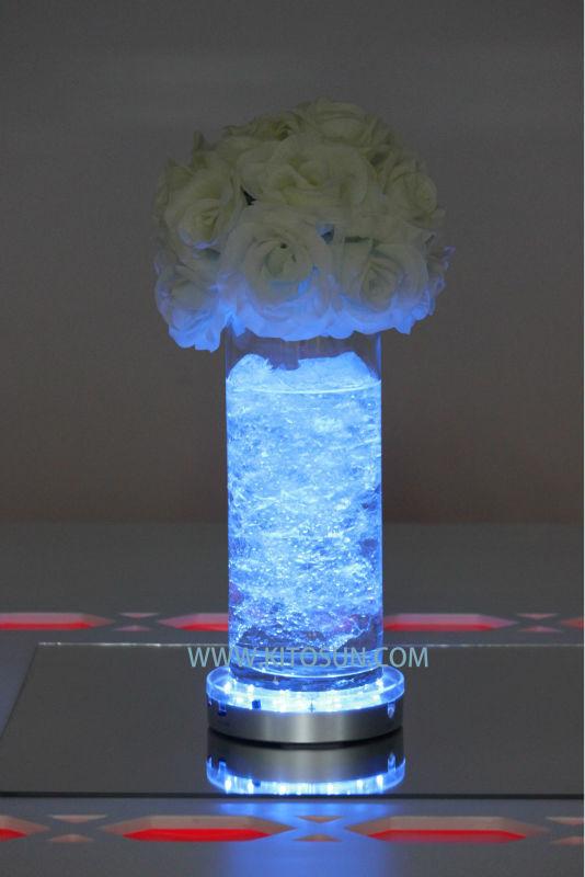 19pcs Multi-color Wedding Party Decoration Floral LED Vase Base Light + 24keys Remote controller(China (Mainland))
