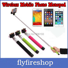 Hot Sale Self-Shooting 7 Sections Foldable Wireless Mobile Phone Monopod Suits for ios android Smartphone Holder Free shipping
