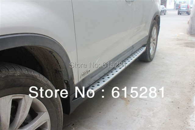 Side step bar running board for  Kia Sorento,2009+, Aluminium alloy+ABS, Automobile Accessories Decoration, Free Shipping