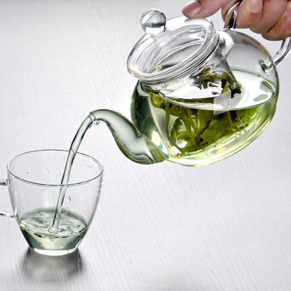 Practical Heat Resistant Bottle Cup Glass Teapot with Infuser Tea Leaf Herbal Coffee Home Office 350ML Drop Shipping(China (Mainland))
