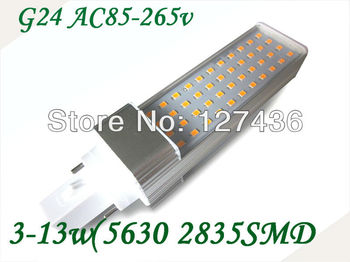 E27 /G24/B22 7W 2835 SMD 44 LEDs Corn Light Bulb Lamp 146mm  Warm White /White AC 85V-265V 360lumes 6pcs/lot