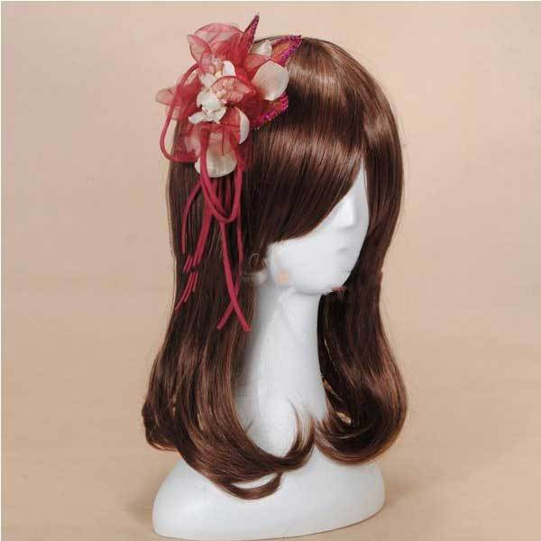 Tradenium Sequins Ribbon Flower Headpiece Fascinator Brooch Hair Clip(China (Mainland))