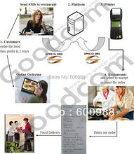 Low GPRS Data Handheld GPRS SMS Printer for Restaurant Online Food Ordering and Online Shopping(China (Mainland))