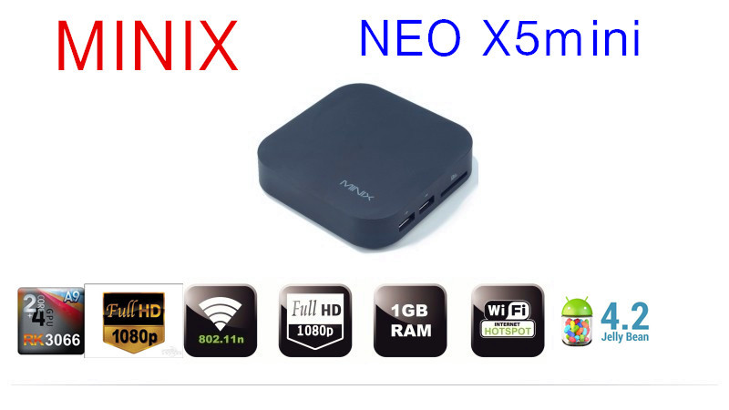 Original MINIX NEO X5 Dual Core Cortex A9 mini tv box Android 4.2.2 1GB/8GB HDMI 1080P Remote Media Player(China (Mainland))