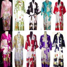 2014 NEW Chinese Women's Silk Rayon Robe Kimono Bath Gown Nightgown S M L XL XXL XXXL Free Shipping ZS02(China (Mainland))