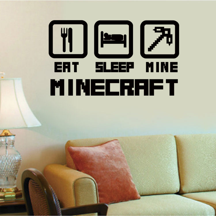 4044 cheap home decoration minecraft wall sticker for Cheap wall mural decals