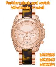 Bromista de moda damas moda del reloj de la tortuga carey resina MK5859 MK5943 MK6094 + caja Original + Wholesale y Retail + Free