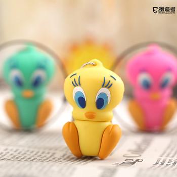 Usb flash drive 16g cartoon duck usb flash drive mini gift