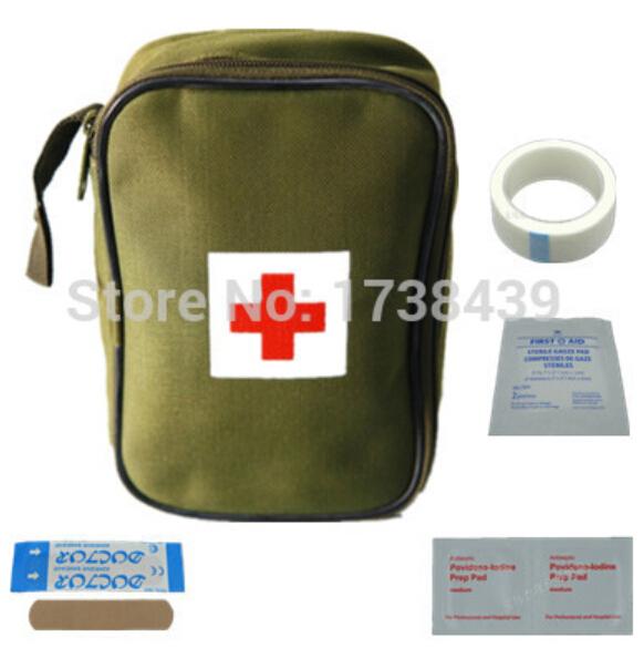 New 14pcs /Set First Aid Kit Emergency medical bag Family first aid kit bag Travel Survival kit Mini Car kits(China (Mainland))