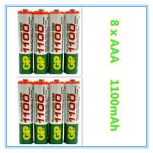Brand New 2015 0riginal 8pcs/Lot High energy GP 1.2V NiMh AAA 1100 mAh Battery Rechargeable 3A Batteries Battria free shipping(China (Mainland))