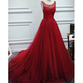 Luxury Lace Long Wedding Dresses Pearls Beaded Bridal Gowns Custom Made Top Quality Burgundy Wedding Gowns