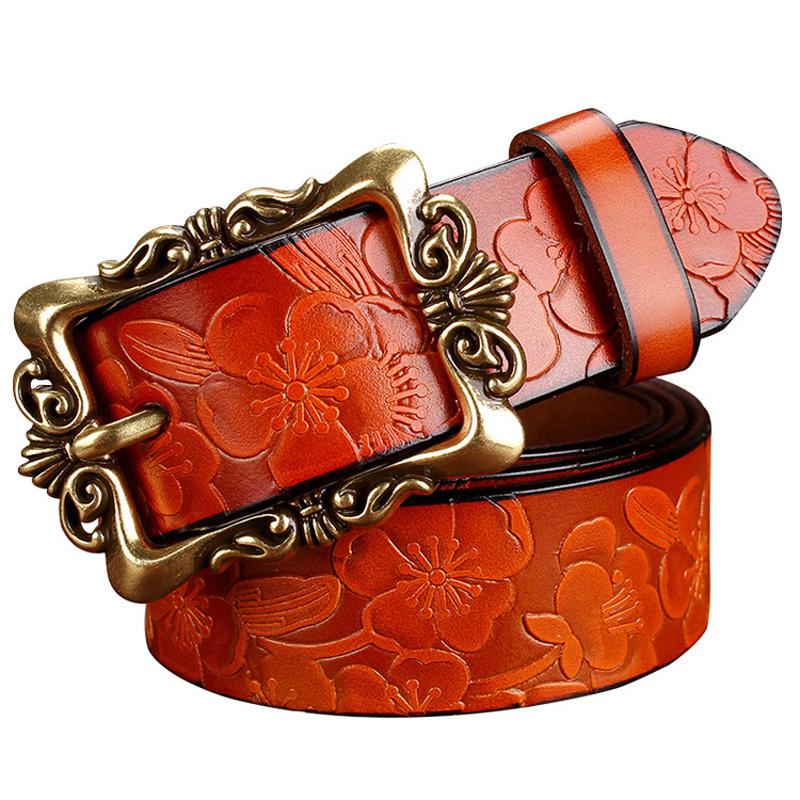 Vintage Leather Belt Leather Belt Woman Vintage